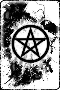 Pentagram by (actually a pentacle - has the outer circle) Wiccan Wallpaper, Gothic Wallpaper, Cool Wallpaper, Iphone Wallpaper, Pentacle, Witch Symbols, Satanic Art, Supernatural Wallpaper, Arte Obscura