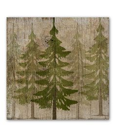 Another great find on #zulily! Pine Tree Forest Wrapped Canvas #zulilyfinds