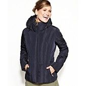 Calvin Klein Coat, Hooded Quilted Puffer
