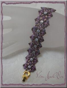 Bracelets, schéma bracelet Fleuré est une création orginale de Vinjuleve sur DaWanda