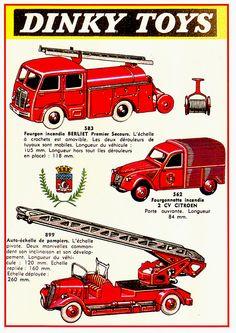 Dinky Toys - Véhicules pompiers http://jpdubs.hautetfort.com/archive/2013/07/24/pubs-et-catalogues-jouets-retro.html