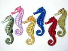 """Handpainted Assorted Seahorse Wall Mount Decor Plaque (Set Of 6) 6"""" . $19.99. Save 46%!"""