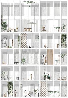 project for a residential building in Porta Volta, Milan, facade 1