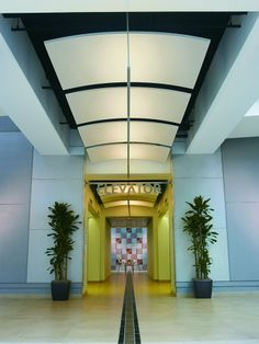 Acoustic ceiling clouds OPTIMA CANOPY CURVED - ARMSTRONG Building Products