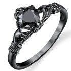 Black rings - Claddagh rings - Jewelry - Accessories rings - Beautiful rings - Love ring - The, Jewelry Rings, Silver Jewelry, Jewelry Accessories, Cz Jewellery, Jewelery, Snake Jewelry, Irish Jewelry, Jewelry Center, Silver Pendants