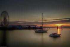 Dun Laoghaire at Sunset, South County Dublin, Ireland.