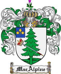 Macalpine Coat of Arms Macalpine Family Crest Instant Download ...