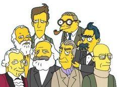 No me gustan Los Simpsons, pero esto es genial: Kant, Socrates, Wittgenstein, Marx, Sartre, Barthes, Nietzsche y Foucault