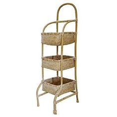 Preview 3-Tiered Rattan Basket On Stand 10'x11'x33' by AI-Kitchen