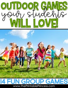 Spring is a perfect time to get outside and play with your students!Are you looking for some fun group activities to help get the wiggles out and enjoy the fresh air and warm sunshine? Check out these 14 ideas for fun outdoor games for kids. These outdoor games are perfect for a large group of kindergarten and first grade students.