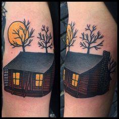 Evil Dead Cabin Tattoo