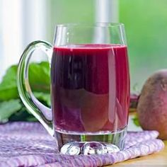 In this healthy ginger-beet juice recipe, we pack in vegetables by adding kale and a carrot, and sweeten with an orange and apple. No juicer? No problem. See the juicing variation below to make this beet juice recipe in the blender. Fresh Juice Recipes, Healthy Juice Recipes, Juicer Recipes, Healthy Juices, Healthy Smoothies, Healthy Drinks, Smoothie Recipes, Healthy Eating, Drink Recipes