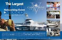 Don't miss the 2014 Cabo Marine Show in Los Cabos, the largest marine networking event in Mexico! Fishing Magazines, Destin Fishing, Fishing Tournaments, Blue Marlin, Sport Fishing, Cabo San Lucas, In The Heart, Destinations, Mexico