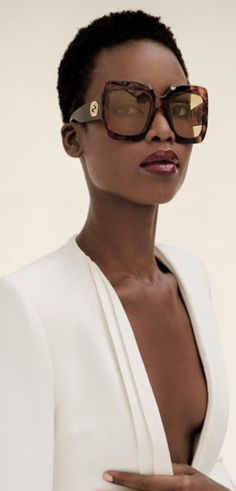 FREE SPIRITS Maria Borges by Inez and Vinoodh W magazine March 2016 jacket Brandon Maxwell, Gucci sunglasses, Solange Azagury-Partridge ring Sunnies, Gucci Sunglasses, Sunglasses Outlet, Oversized Sunglasses, Black Girl Magic, Black Girls, Black Women, Business Mode, W Magazine