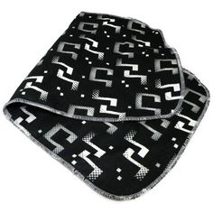 Baby Burp Cloth Black and White Music Notes on Etsy, $2.99