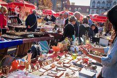 Antique market on British Square