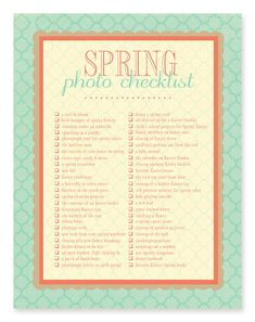 50 photo ideas & photography prompts this list is sure to get you started in capturing your Spring.