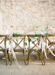 Ribbon and Garland on Chair | photography by http://ktmerry.com/