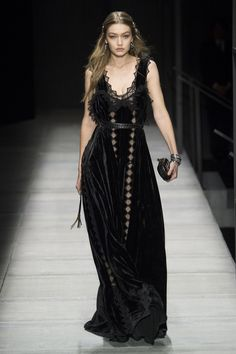 Beautiful black velvet dress by Bottega Veneta fw18