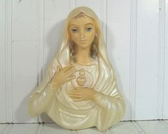 Relief Madonna Pearlescent ChalkWare Plaque  by DivineOrders, $19.00