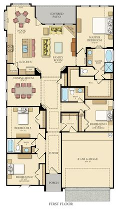 1000 images about dream floor plans on pinterest new home plans floor plans and new homes - Houses bedroom first floor fit needs ...
