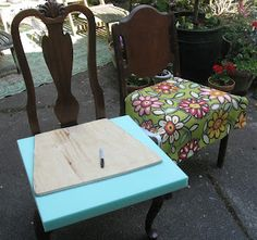 Tea With Lavera: How to cover Dining Room Chair seats