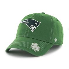 save off 2d8ac a03c5 New England Patriots 47 Brand St Patty s Fatty Green Adjustable Hat Detroit  Game, St Pattys