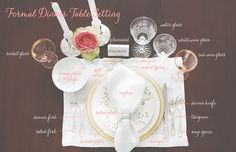 How to Style a Place Setting- Formal Dinner