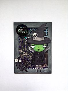 Sassy Monster Crafts: Halloween Witch Shaker ATC