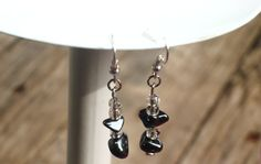 Hematite Drop Earrings by LightedLights on Etsy, $8.69