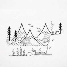 Small easy drawings cool and easy things to draw small easy drawings simple doodles drawings easy . Easy Pen Drawing, Small Easy Drawings, Easy Doodles Drawings, Simple Doodles, 3d Drawings, Drawing Ideas, Pencil Drawings, Landscape Drawing Easy, Drawing Designs