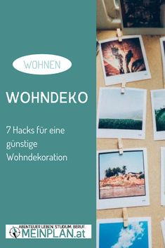 Die Wohnung oder das Studentenheimzimmer günstig dekorieren: sieben Möglichkeiten zum Nachmachen. Hacks, Planer, Writing, Student Home, Budget Decorating, Challenges, Wall Design, Learning, Projects