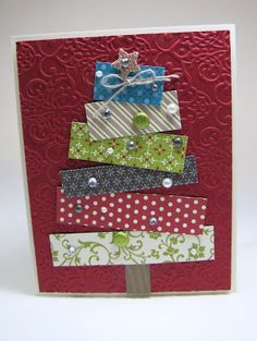 Cute card to make using scraps...I have LOTS of scraps!  :)