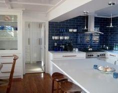blue accent tile