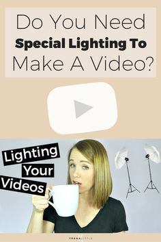 Natural lighting, soft box lighting, umbrella lights, what do you really need? In this video I'm telling you the best lighting you need and how to make a video for youtube with the lights you already have. Click through to watch the video!