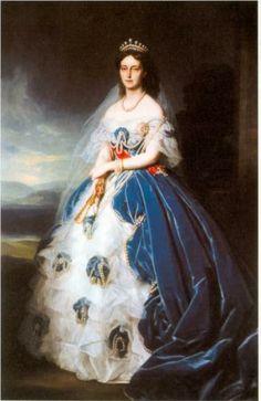 Portrait of the Queen Olga of Württemberg by Franz Xaver Winterhalter
