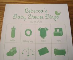 Personalized Baby Shower Bingo Game Cards - with pictures!