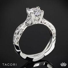 Tacori Classic Crescent Twist Diamond Engagement Ring #pinititowinit #Whiteflash #Tacori