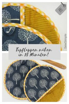 Sewing potholders in 15 minutes: free instructions- Topflappen nähen in 15 Minuten: Kostenfreie Anleitung Potholders sew in 15 minutes, sewing for the apartments, beginner project for beginners - Sewing Hacks, Sewing Tutorials, Sewing Crafts, Sewing Patterns, Sewing Tips, Sewing Projects For Beginners, Knitting For Beginners, Knitting Projects, Diy Accessoires