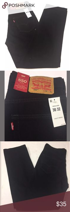Levi's 550 Relaxed Fit Men Black Jeans 30 X 32 Authentic new with tags Levi Strauss 550 Relaxed Straight Leg Jeans. Sits at waist, loose through thigh. 100% Cotton. Style 00550-0260. MSRP $59.50. Men's Size 30 X 32 Jeans. Black. Please see the pictures for mire details.  Smoke and Pet Free Environment.❗️No Trade❗️ Levi's Jeans