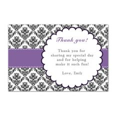 Adult thank you greeting card