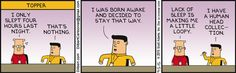 I worked with a Topper once - Dilbert Comic Strip on 2015-09-05 | Dilbert by Scott Adams