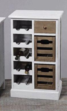 Weinregal Flaschenregal Schrank Regal Holz - H80cm: Amazon.de: Küche & Haushalt