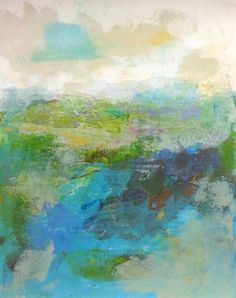 Original Mixed Media Landscape/ Seascape on Paper by lindadonohue