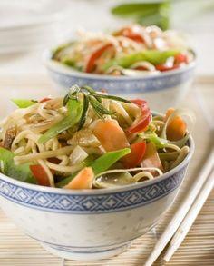 Vegetais no Wok com Noodles