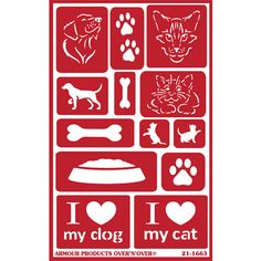 "Armour Products announces the arrival of their NEW Reusable Over N Over glass etching stencil ""PAWS"" -avail now @www.etchworld.com. See our fabulous projects @ www.etchtalk.com"