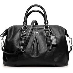 COACH MADISON LEATHER JULIETTE SATCHEL ($358) ❤ liked on Polyvore