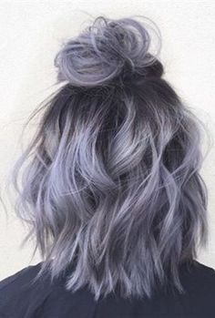 Silver gray ombre hair color ideas for short hair managed to supplant the burning red, cold blue and extravagant purple hair dye. This shade is quite, Hair Color