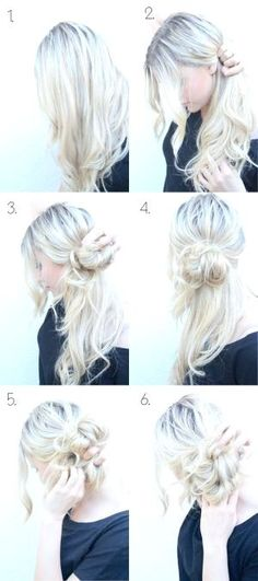 How to Do Style: Messy Side Bun Updo My awesome sister taught me to do this over a year ago and it's been a curly-girl lifesaver! The post 10 Super Easy Updo Hairstyles Tutorials appeared first on Hair Styles. Updo Hairstyles Tutorials, Up Hairstyles, Pretty Hairstyles, Hair Tutorials, Makeup Tutorials, Wedding Hairstyles, Step Hairstyle, Hairstyle Ideas, Summer Hairstyles