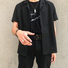 Mens Fashion Outfit in Black. Trending Black Clothing Ideas for Men. Indie Fashion, Aesthetic Fashion, Grunge Fashion, Aesthetic Clothes, Men's Fashion, Fashion Outfits, Fashion Trends, Urban Aesthetic, Classic Fashion
